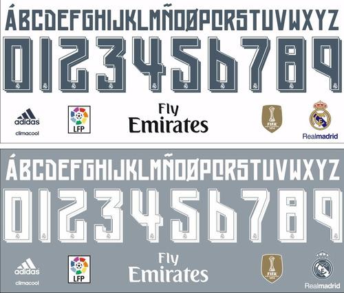 estampado numero real madrid 2015 2016 adidas oferton