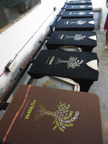 estampado textil de franelas en serigrafia personalizado
