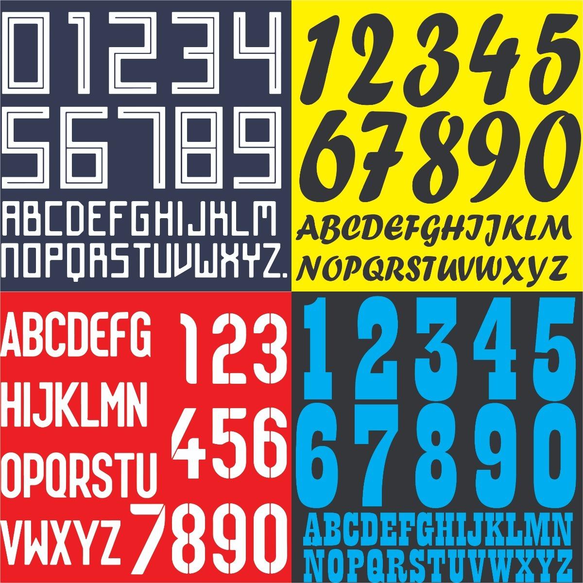 44cb106456 Estampado Vinilo Numeros Nombres Futbol Letras Camisetas -   18