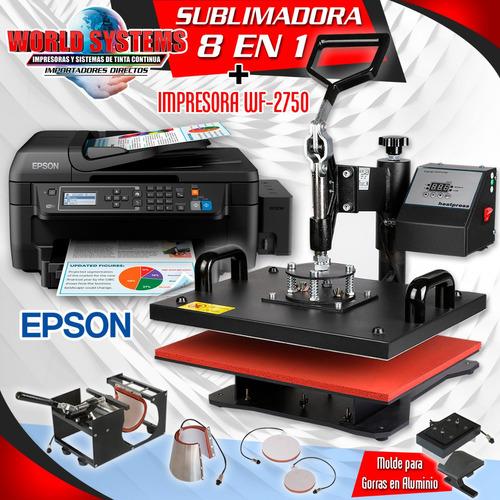 estampadora 8-1 combo impresora wf 2750+accesorios de subli