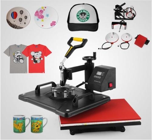 estampadora sublimadora 5 en 1 gorra camiseta jarro plato