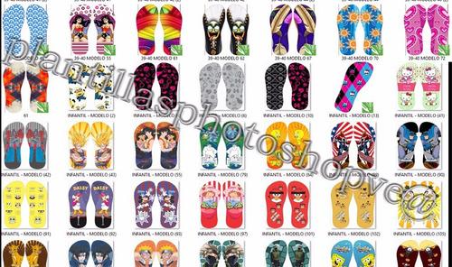 estampados sandalias 1000 diseños vectorizados