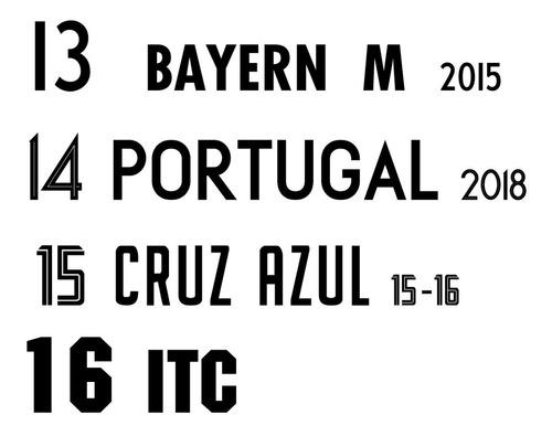 estampados vinilo futbol deportes conjuntos numeros nombres