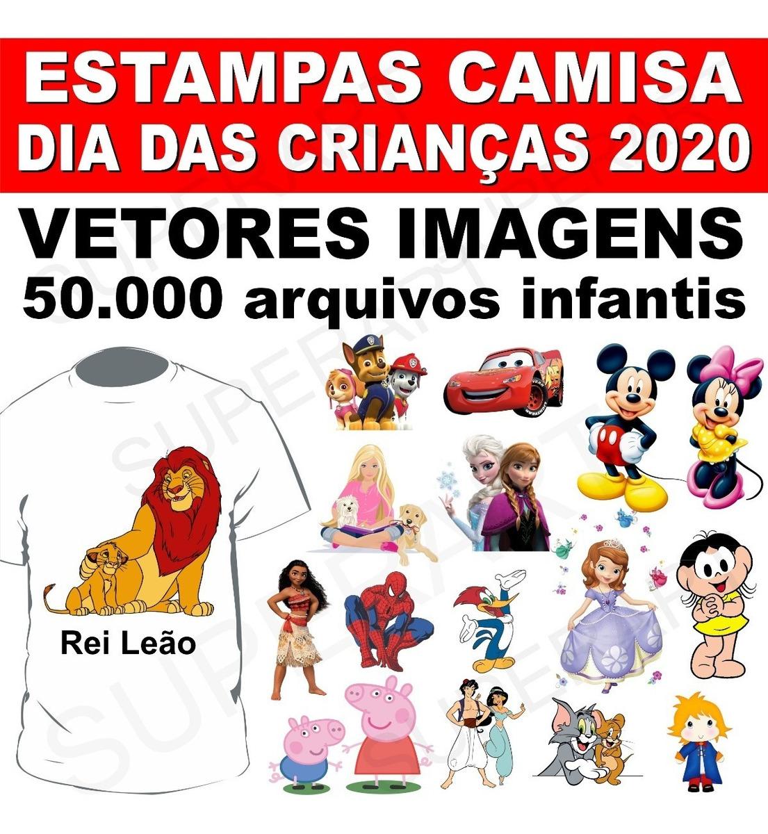 Estampas Camisas Vetores Imagens Infantis Diversas Dia Das