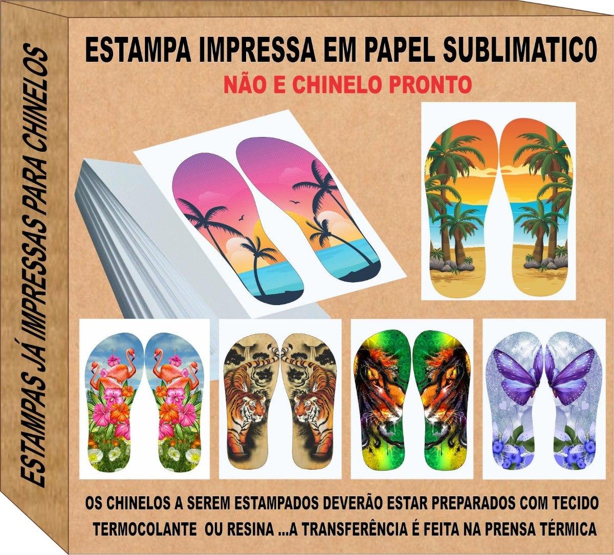 251791497 Estampas Chinelo Prontas Ja Impressas Com 120 Pares - R$ 119,00 em ...