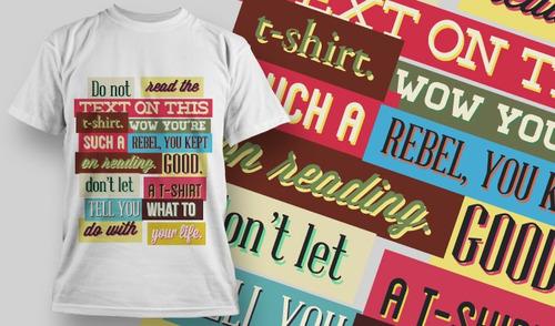 estampas de camisetas em vetor set 3