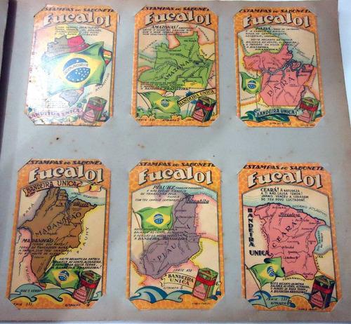 estampas eucalol série nº131 estados brasil completa