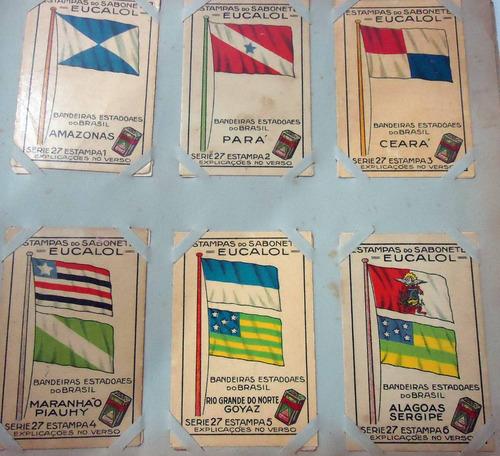 estampas eucalol série nº27 bandeiras estadoaes brasil