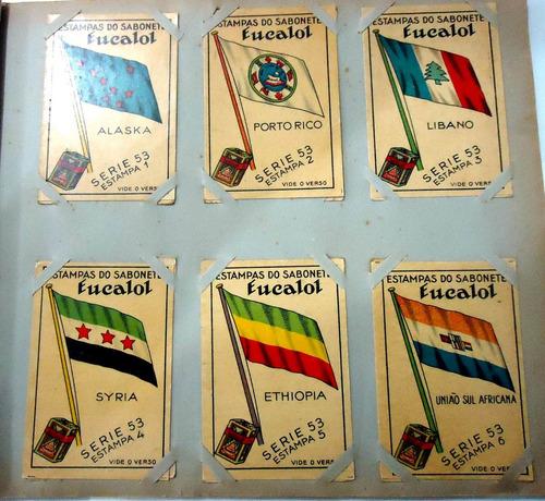 estampas eucalol série nº53 - bandeiras do mundo (sem nome)