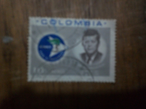 estampilla alianza para el progreso colombia (1963)