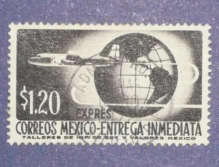 estampilla correos méxico entrega inmediata $ 1.20 antigua