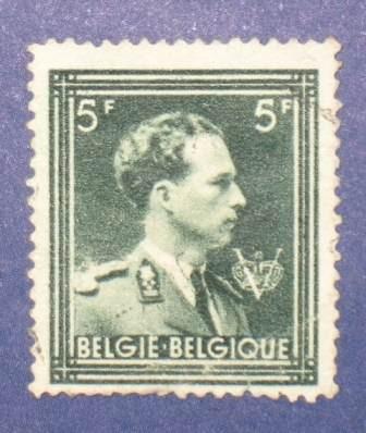 estampilla stamp leopoldo leopold iii 5f belgica belgie 1936
