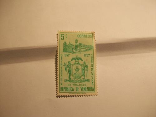 estampilla venta d colección venezuela antigua usado 1957