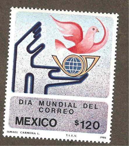 estampillas 1986, dia mundial del correo