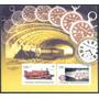 Estampillas Cuba Hoja De Recuerdo Trenes Subterráneos 2008