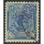 Estampilla Perú 1 Valor Expreso 1910 Simón Bolívar - Usada