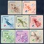 Estampillas República Dominicana 8 Valores 1957 Olimpiadas