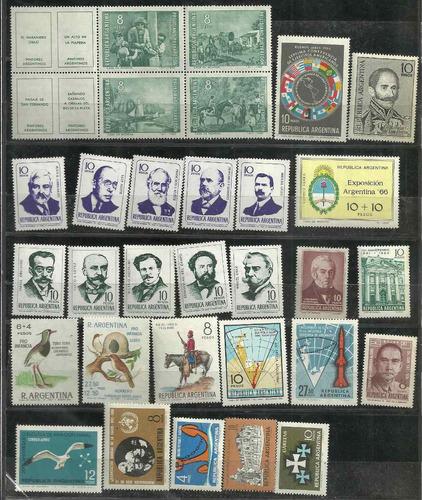 estampillas argentinas año 1966 completo conmemorativo