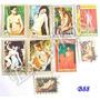 B88 Estampillas Guinea Ecuatorial Desnudos 9 Valores Arte