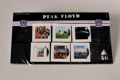 estampillas conmemorativas 50 años de pink floyd