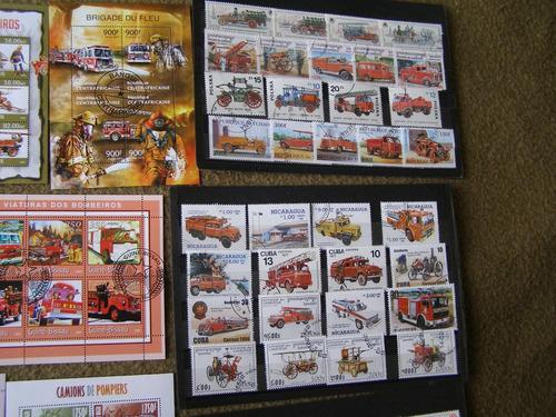 estampillas de bomberos, 100 estampillas