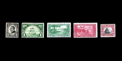 estampillas: estados unidos 1923 a 1925