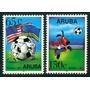 Estampillas Aruba Serie De 2 Valores 1994 Mundial Fútbol