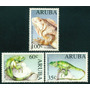 Estampillas Aruba Serie De 3 Valores 1993 Iguana Yuana