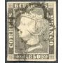 Estampilla De España 1 Valor De 6 Cuartos De 1850 Usada