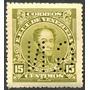 Estampilla Venezuela 15 Ctms 1924-8 Bolívar Oficial Gn Usada