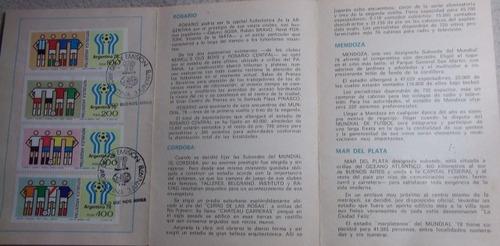 estampillas paises participantes mundial 1978 día de emisión