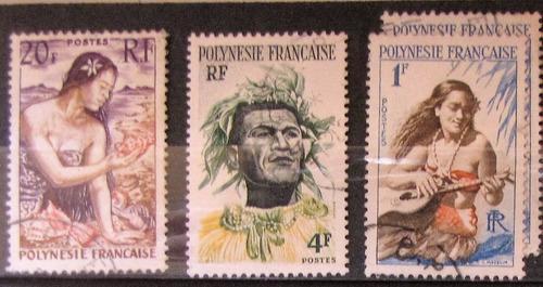 estampillas polinesia francesa serie 1958