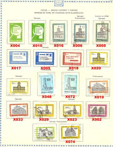 estampillas republica argentina  1979 a 1980  (paq-22)
