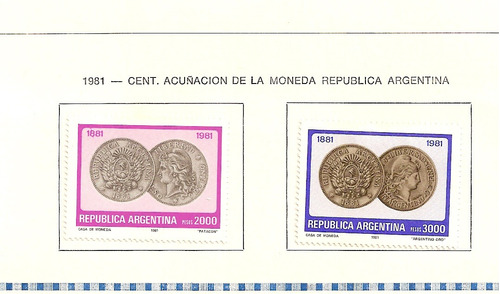 estampillas republica argentina  1981 a 1982  (paq-24)