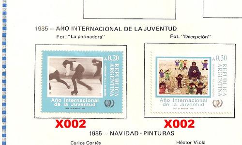 estampillas republica argentina  1985 a 1987  (paq-28)