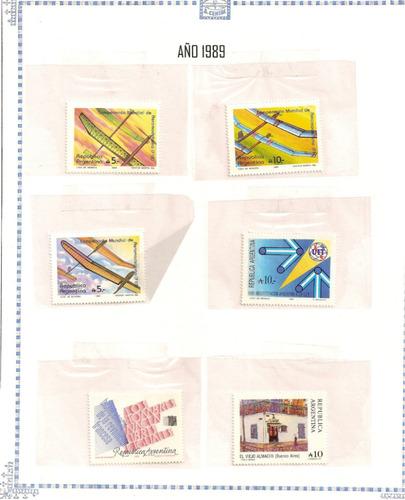 estampillas republica argentina  1987 a 1989   (paq-29)