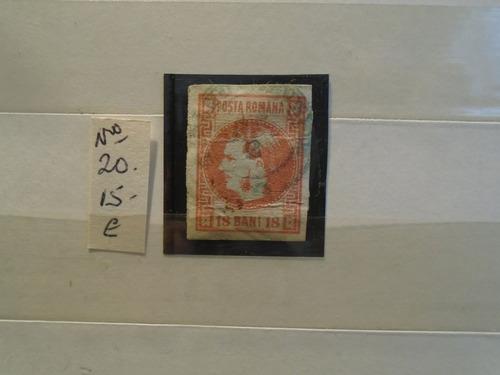 estampillas rumania. año 1868. eu 15. impecable.