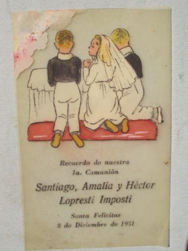 1fd3697c8d Estampita Religiosa Recuerdo Primera Comunion 1951 Antigua - $ 85,71 ...