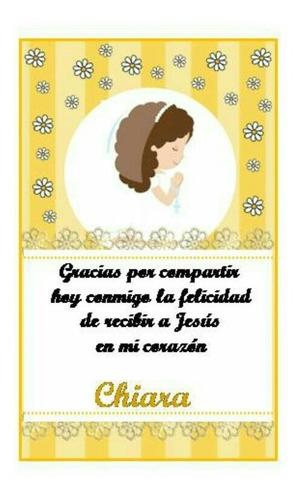 estampita tarjeta comunion bautismo cumpleaños