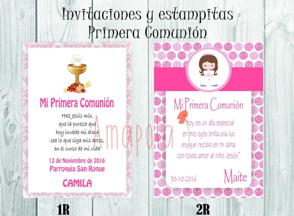 invitaciones de primera comunion mercadolibre