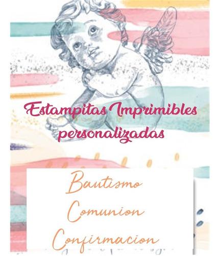 estampitas bautismo comunión imprimibles