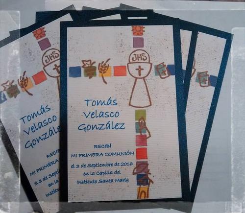 estampitas comunión varón invitaciones tarjetas estampas