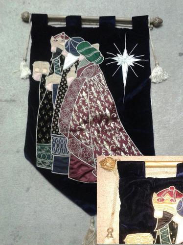estandarte bandera angel reyes magos noel santa navidad