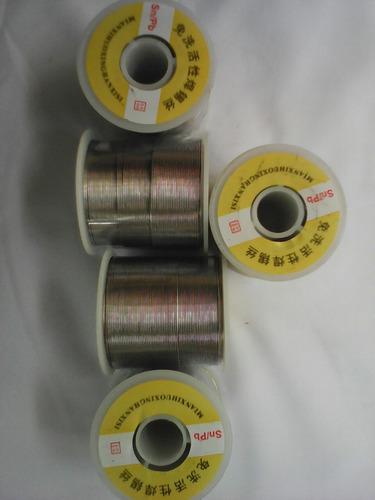 estaño 0.8mm 60/40 rollo 1 libra 100 mts
