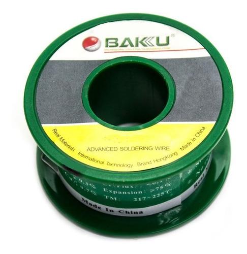 estaño baku 0.2mm 50gr. excelente para microsoldaduras.