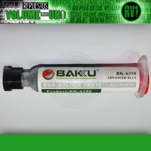 estaño en pasta liquido soldadura baku bk-6350