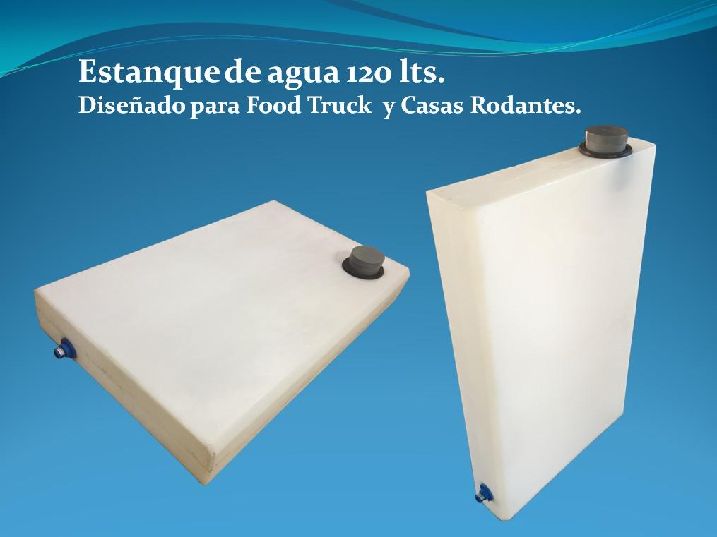 Estanque de agua 120 lts para food truck y casas rodantes for Estanques para agua