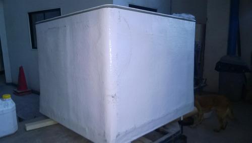 estanque rectangular fibra de vidrio aislado 50 mm para agua
