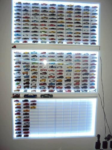estante 120 + led + nichos acrilicos - hot wheels -1;64 espo