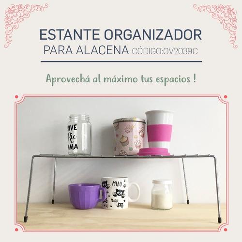 estante accesorio cocina organizador de alacenas cromado 12c